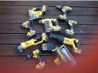 Dewalt 9 piece, 18v, 4 amp cordless kit