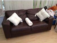 Chocolate leather sofa - need a cheap sofa???