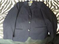 Boys navy pinstriped jacket age 11