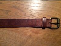 Men's Leather Belt from Topman - Embossed Paisley Pattern (RRP £15)