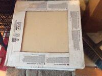 Beige ceramic floor tiles