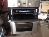 Indesit electric built under double oven