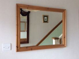Large Solid Pine Frame Mirror