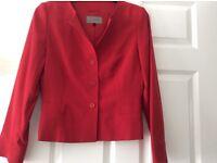 Vintage red wool Jaeger smart blazer jacket