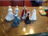 Coalport Royal Worcester and Royal doulton figurines