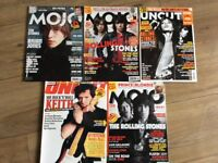 Mojo, Uncut & NME mags featuring Rolling Stones