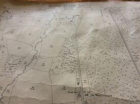 Three old ordnance survey maps