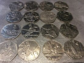 OLYMPIC 50P SALE ! BUY ANY ONE OF THE COINS SHOWN FOR £3.00 or ANY FOUR FOR £10.00 plus postage *