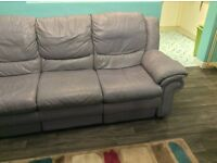 Modern Leather Recliner Settee
