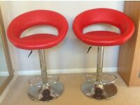 Red Leather Breakfast Bar Stools