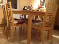 Family dining table + 6 chairs