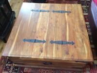 coffee table sheesham wood chest