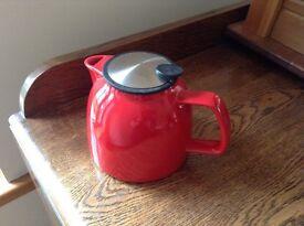 Red Suki tea for life six cup teapot.