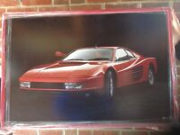 In good condition this framed FERRARI TESTEROSSA poster picture