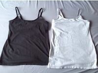 2x maternity nursing vests size 12 £1 HAROLD HILL