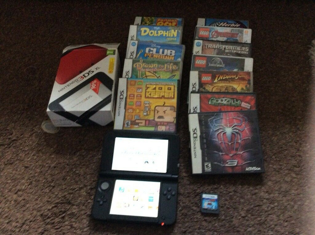 NINTENDO 3DS XL RED with 13 games | in Pelsall, West
