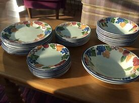 REDUCED- Chianti Staffordshire Tableware 35 pieces, 8 complete settings. Ideal for extra guests.