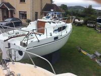 Hunter 23 bilge keel sailing boat