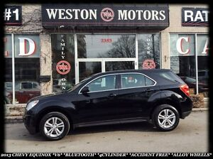 2013 Chevrolet Equinox *V6 *BT *4CYLINDER *ACCIDENT FREE *ALLOY