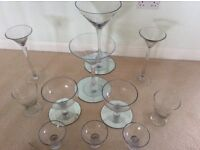 Selection of Glasses - martini, bowls - ideal for sweet candy bar or weddings