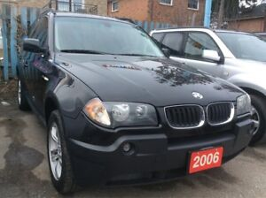 2006 BMW X3 2.5i Low KM 160K Panorama Roof Leather Alloys MINT