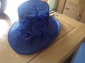 Royal blue wedding hat