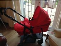 Babystart pram carrycot transforms to pushchair from newborn excellent condition as new