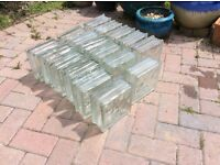 17 glass building blocks, used but free from damage.
