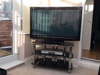 Panasonic 42 inch TV with stand and DVD player