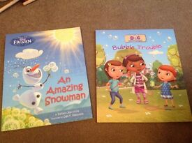 Frozen and doc mcstuffins books, new. Ideal for christmas, toy fillers