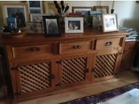 Solid pine rustic Mexican style sideboard-sold by Maskreys