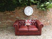 Antique brown 2 seater Chesterfield sofa. Can deliver