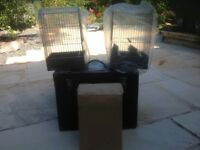 Bird carrier box and show cages