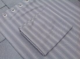 """Elegant Silver / Grey lined NEXT curtains (53"""" x 90"""")"""