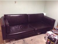 For Sale large two seat settee in black