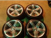 "19"" GENUINE AUDI 19"" CONCAVED SEGMENT WHEELS AND TYRES(S LINE,A6,A7,A4,A5,PASSAT,JETTA,LEON,CADDY)"