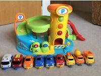 Car garage & cars