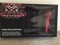 X Factor Karaoke Set Never Used - Connects Online for 1000's of Songs