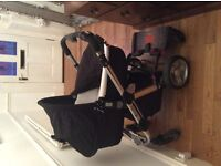 iCandy Apple pushchair including carrycot, buggy and Lascal buggy board