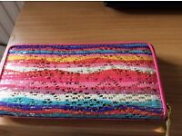Brand new, no tags ladies multicoloured sequinned zipped purse
