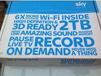 Sky box 2tb with Wi Fi Sky +HD, 3D ready, stores up to 350 hours of programmes.
