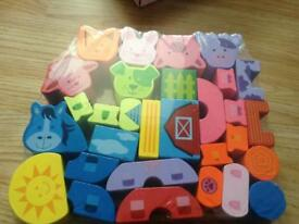 New wooden farm animal blocks