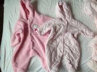 0-3 month snowsuit bundle