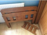 Lovely Cot bed and nearly new matress available