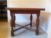 Antique Light Oak Dining Table Extendable
