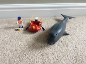 PLAYMOBIL BOAT AND WHALE