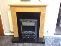Electric fireplace and surround