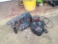Bosch sds hammer drill 36v with charger and batteries 190 ono