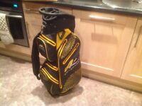 Powakaddy dri edition cart bag brand new black yellow 100 percent waterproof