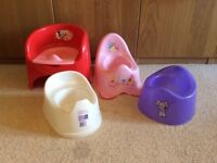 Potties from mothercare, boots, Tesco for babies
